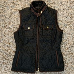Black Quilted Vest w/ Buckles